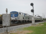 FEC Amtrak Inspection Train P240 rolls past Croissant Park