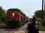CN 5785 leads a westbound through RR Days