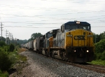 Slowing to take the siding, G964-11 rolls east behind a former Conrail Dash 8
