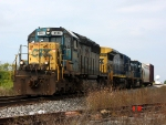 CSX 8106 leads a 2 car Q326 east