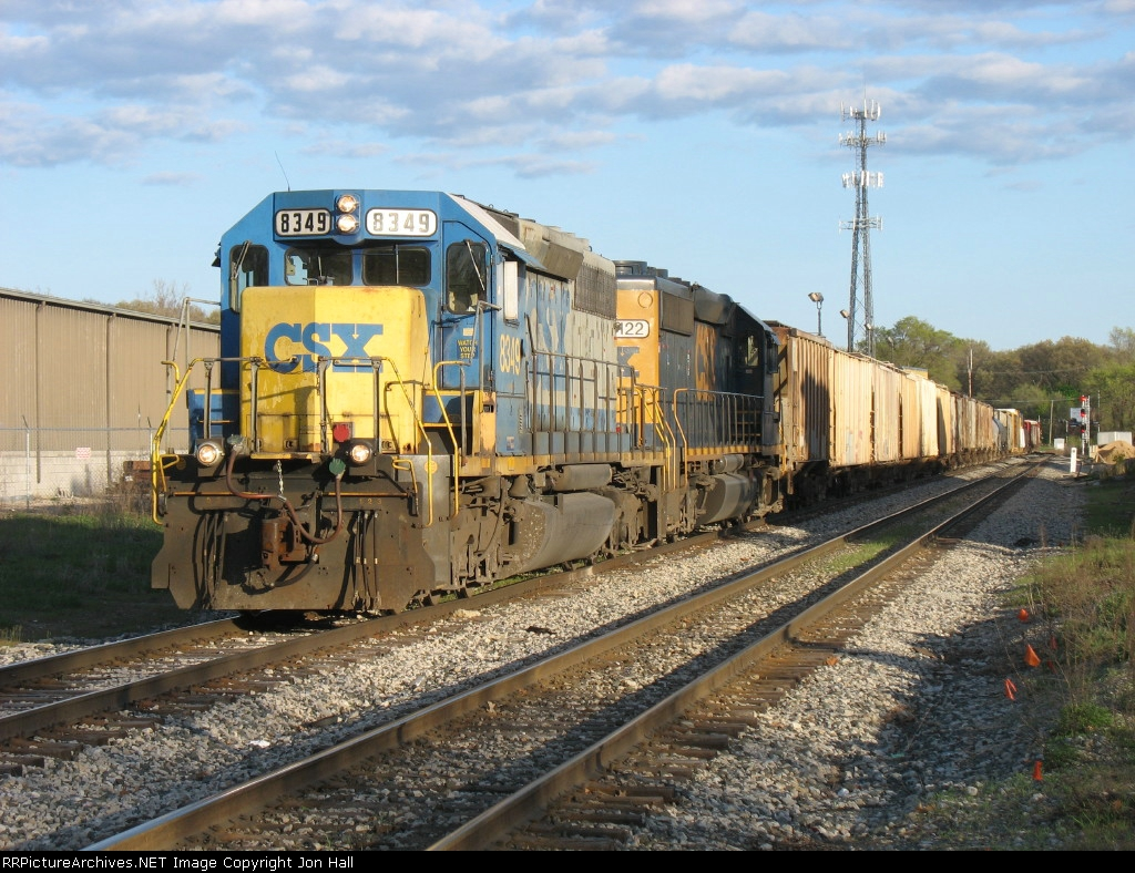 Just onto the double track, a pair of SD40-2's bring Q335-26 west