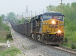 With 100 loads of eastern coal for West Olive, N921 heads west