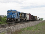 CSX 7921 & 149 roll through the siding at under 10mph with L326-04