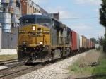 Unit salt train K700-08 rolls down the hill on Track 2