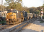 CSX 7313 leads K901-23 west past Seymour