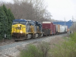 CSX 529 leads 2 more engines and 12 cars west as Q327-13