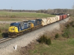 CSX 529 & 744 lead Q334-14 east past milepost 141
