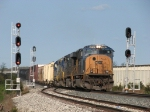 CSX 4742 leads Q334-17 east through the west end signals