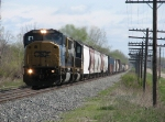 CSX 8732 & 8599 roll S327-17 west with 108 cars for Chicago in tow