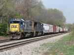 CSX 8554 & 4718 near the end of the double track with L326-20