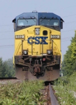 CSX 532 on controlled siding