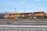 BNSF 1098 Point On An Arriving Freight