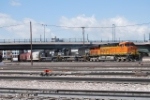 BNSF 6350 Point On A Freight Arriving Denver's BNSF Yard