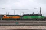 BNSF 1933 & 2317 Moving Into The Yard