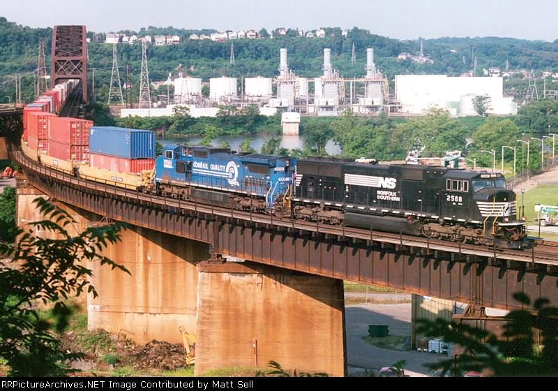 NS 2588 on the OC bridge