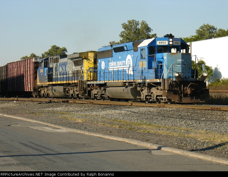 SU-403 with CSX Power prepares to set out NYSW cars
