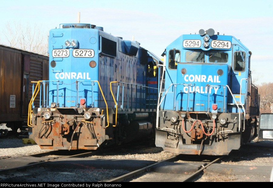 Christmas Eve finds a pair of ex-CR(PC) GP38-2's near the yard office