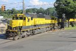Westbound NYS&W freight SU-99 crosses Goffle Road en route to Binghamton NY
