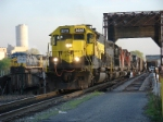 SU-99 with 5 units, 96 cars and 9300 tons departs west for Binghamton