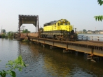 NYSW GP-20 with the WS-3 crew drills the CSX yard on the Overpeck Creek drawbridge