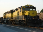 "A pair of the NYSW's ""finest"", GP 40 # 3040 and GP 18 1802 rest at the end of another day"