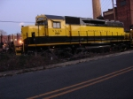SD40 # 3022 waits to go west on the evening's SU-99