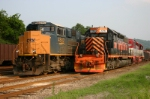 CSX and WLE sit side by side on the 4th of July