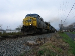 Westbound empty grain train at Waynesboro