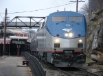 Amtrak train 51 throttles up westbound