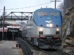 Amtrak train 51 throttles up westbound