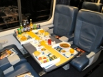 Acela dinner display at National Train Day, Washington, DC