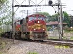 BNSF 8282 Leads Eastbound Z Train Thru Rochelle