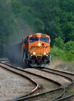 BNSF 5775 - 5694, working hard getting 18,000-tons of coal moving eastbound