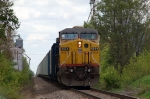 UP 6554, GE C44AC, works as the DPU on southbound coal loads