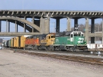 BNSF 1516 on a transfer job