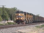 UP 6078 leads a WB empty coal train at 2:58pm