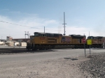 UP 8326 leads an EB doublestack at 4:48pm