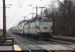 MARC train 523(1) departs Martin Station