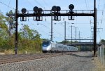 Acela train 2151(9) ay the 448 signals