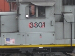 The old KCS number is wearing through on BPRR 3301