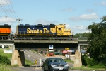 Santa Fe Geep.  Santa Fe bridge.