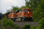 BNSF 6419 eastt with DEEX loads
