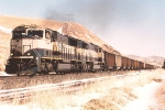Westbound coal train fights up Bozeman Pass