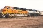 Eastbound coal train waits