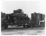 Sherman Tank on Flatcar