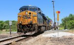 CSX Q156-25, detouring via the NYS&W, enters home rails just south of town