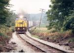 Detour train SU-271, a Q271/SU 99 combo approaches Vernon Crossing Road