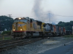 CSX/NYSW SU-404 departs westbound with 10,600 ft of train