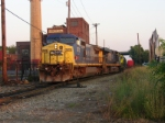 SU-99, with borrowed CSX power, is assembled at Cross street