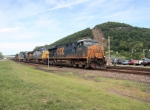 CSX/NYS&W train X101-16 arrives in town from Binghamton NY enroute to Little Ferry, NJ